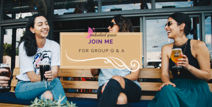 Join me for group Q&A